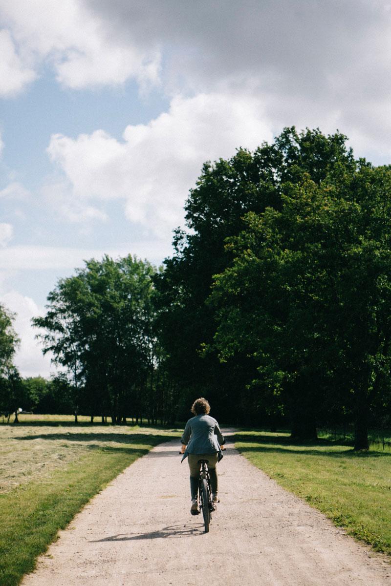 Balade à vélo au Barn, domaine de la Cense