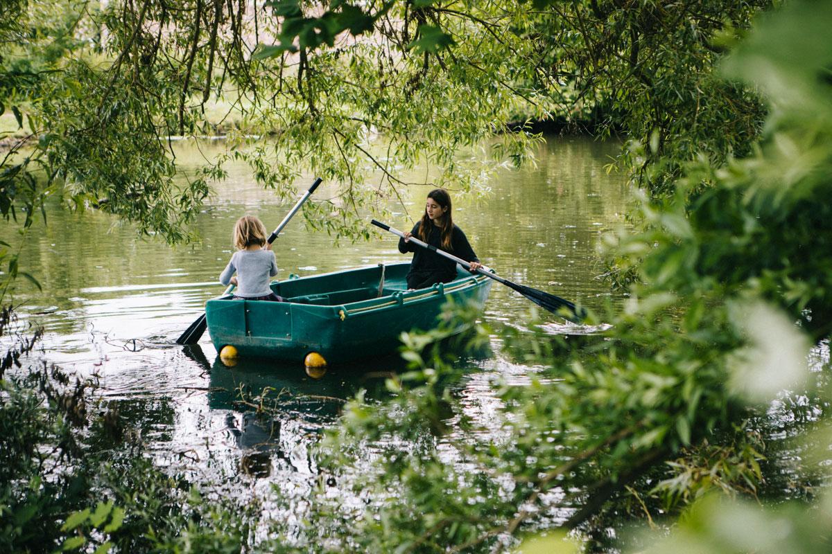 Tour de barque étang , le barn Rambouillet