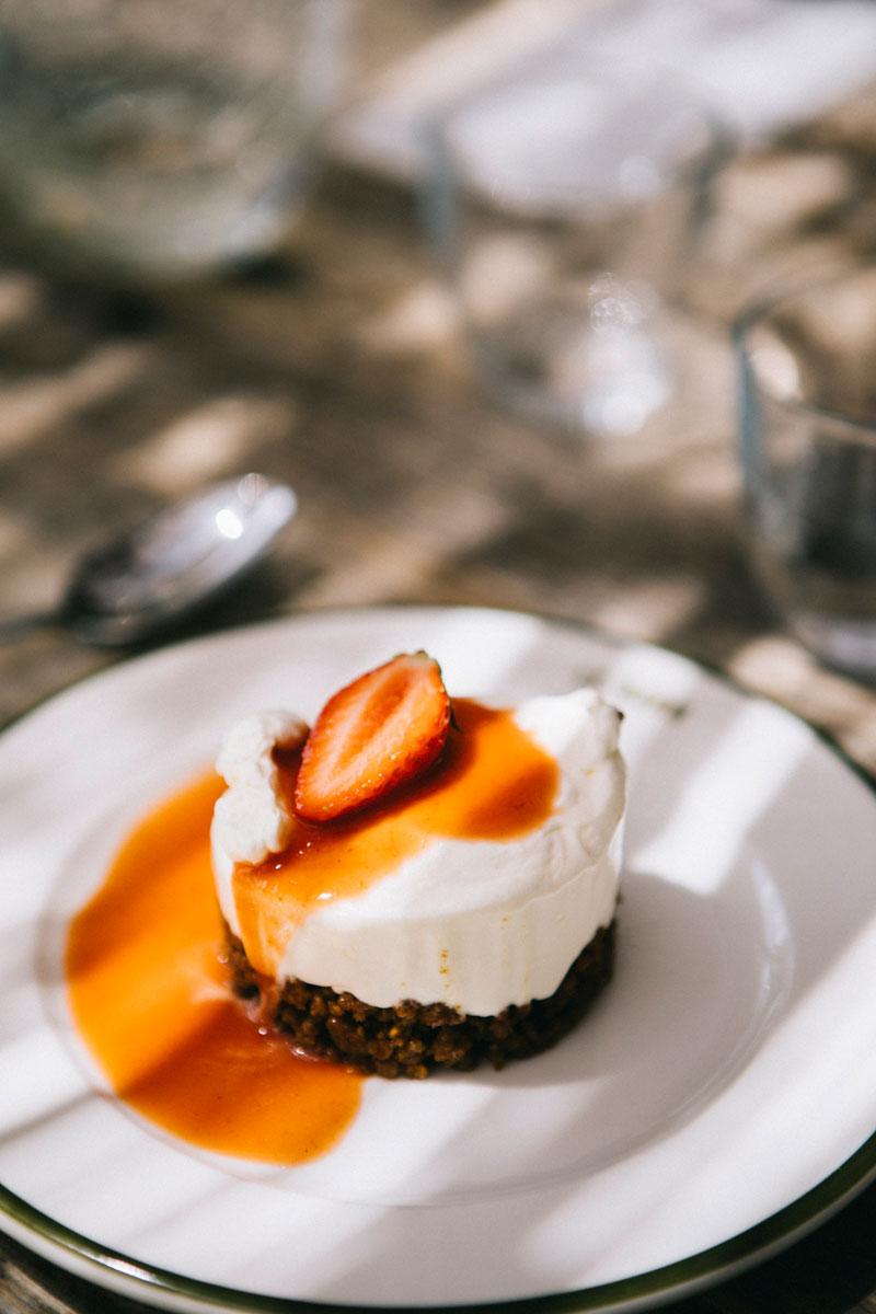 cheesecake au dejeuner, barn hôtel, Rambouillet