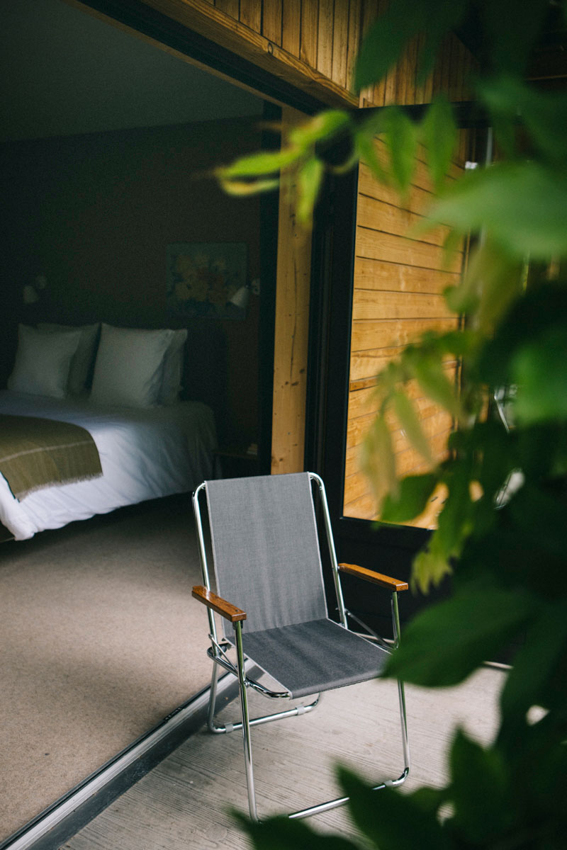 balcon des chambres du Barn