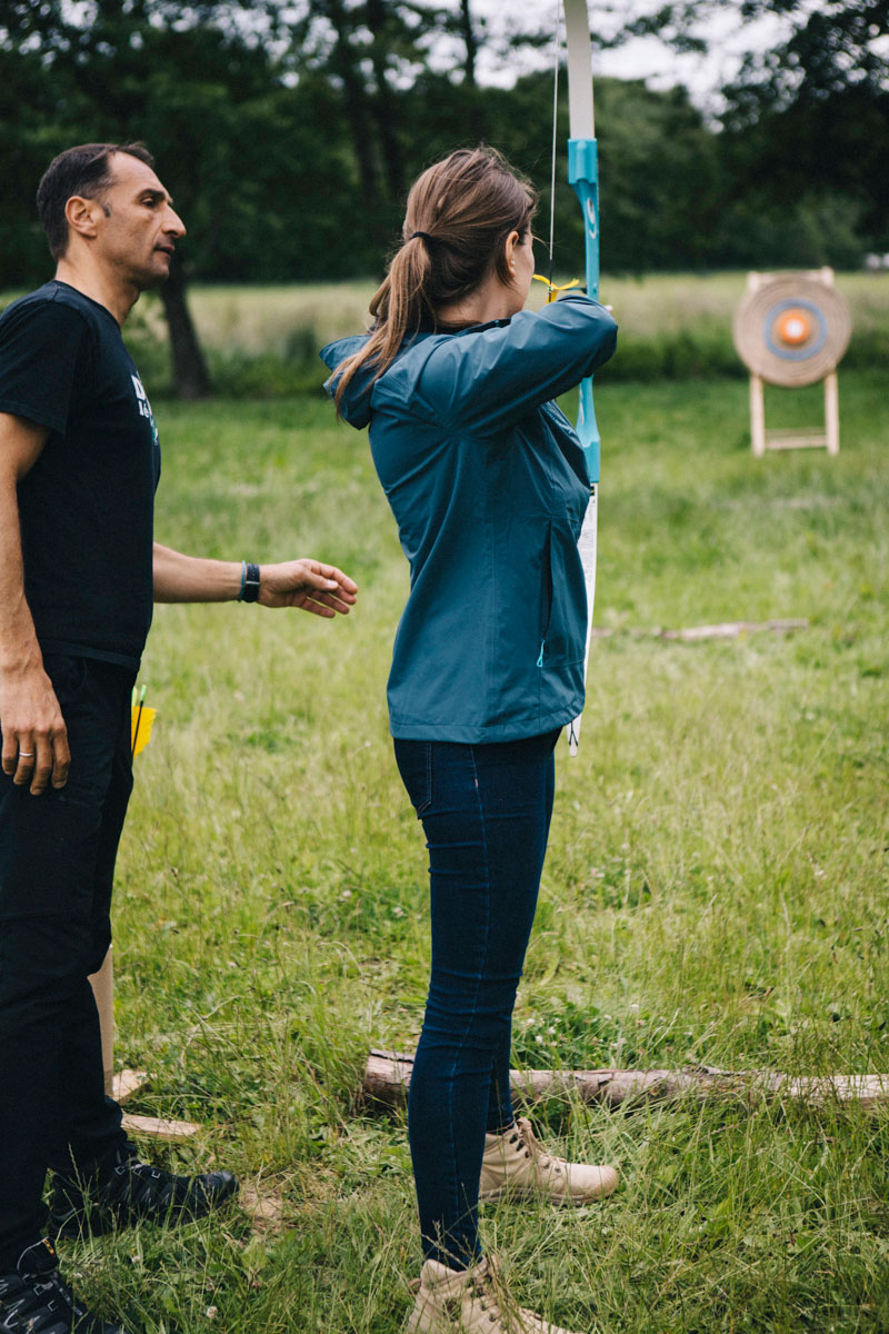 session tir à l'arc, activité au Barn hôtel, Rambouillet