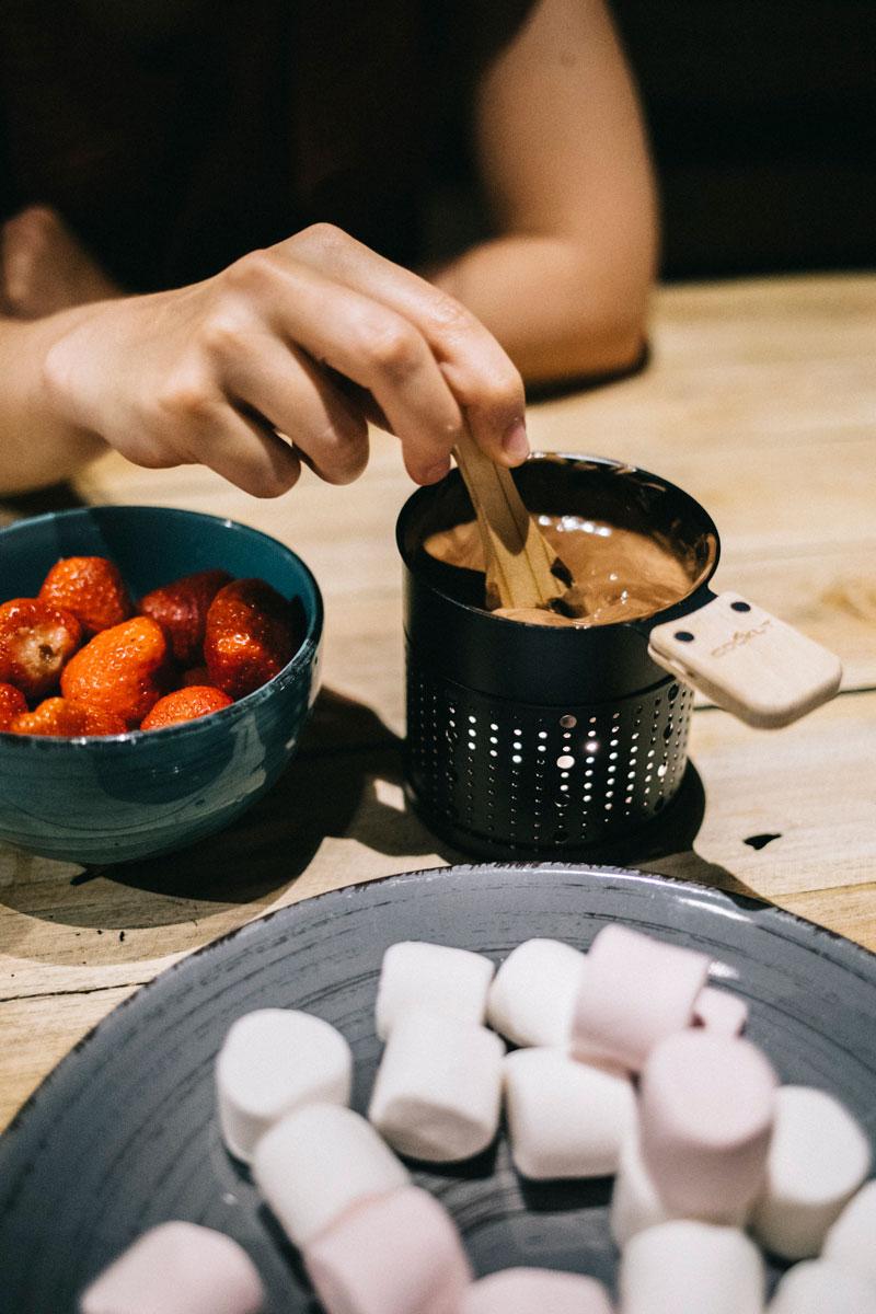 fondue au chocolat de Cookut