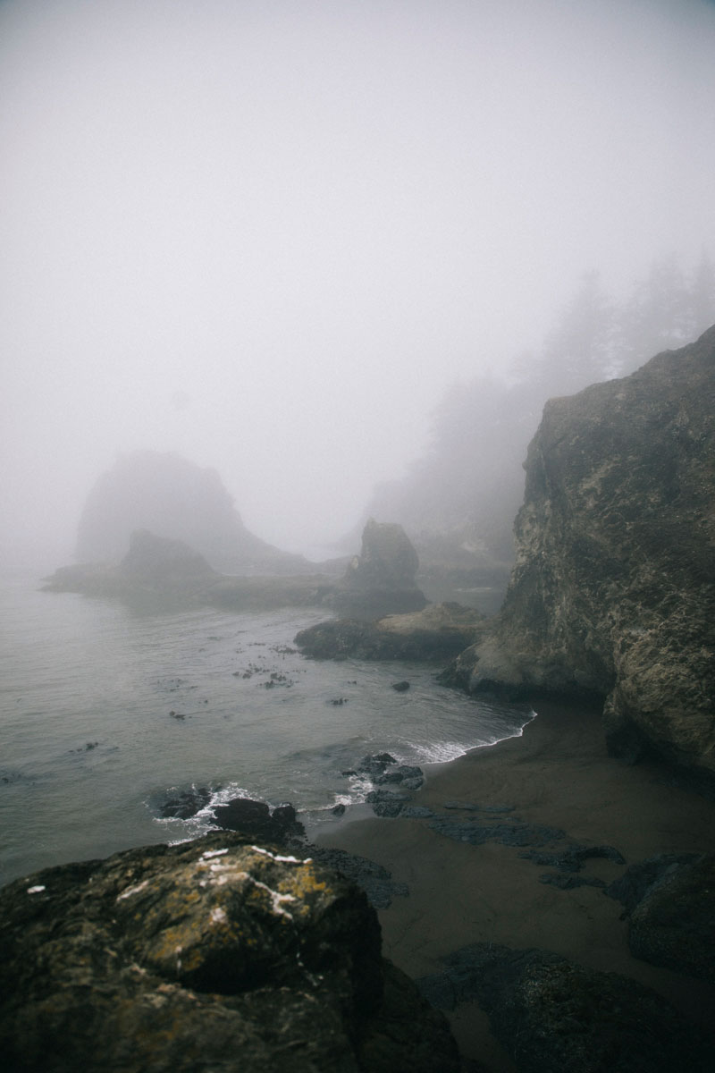Secretbeach sous la brume, road trip Oregon Coast