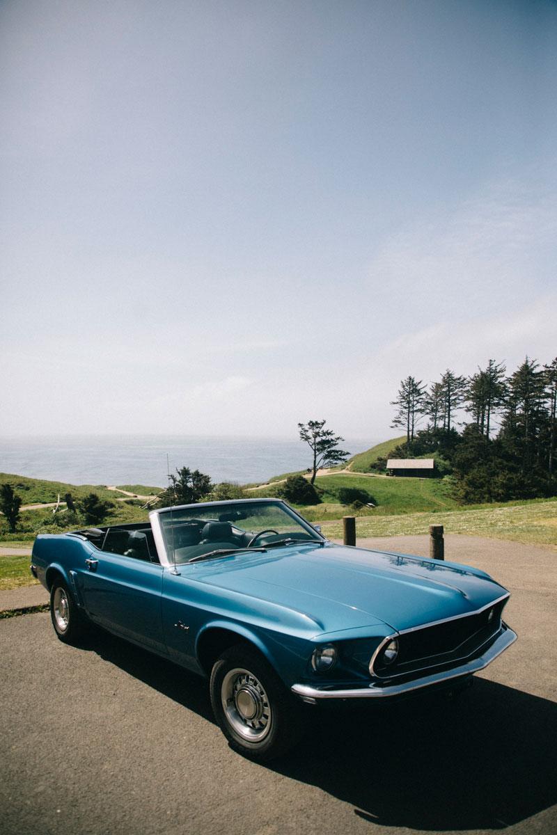 Vintage car Ecola state park