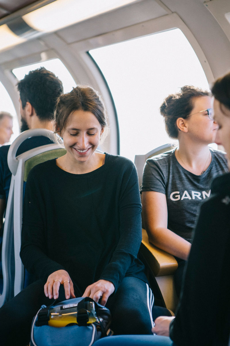 bonne ambiance dans le RER