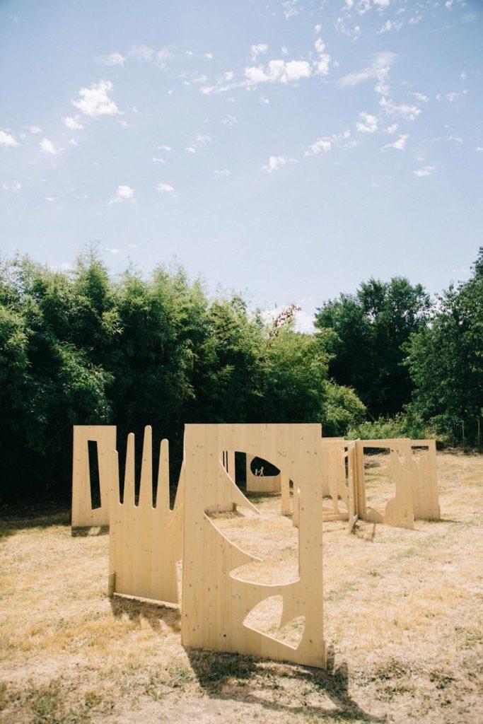 la forêt de livre à l'occasion des estival de Sarrant