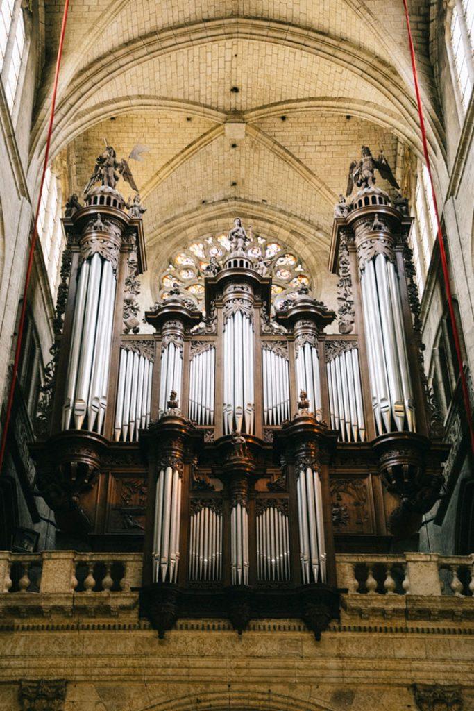 l'ancien orgue de la cathédrale d'Auch
