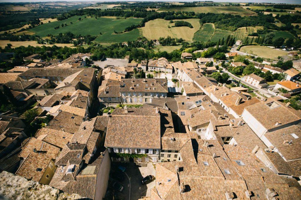 vue depuis le clocher d cela Cathedrale de Lectoure