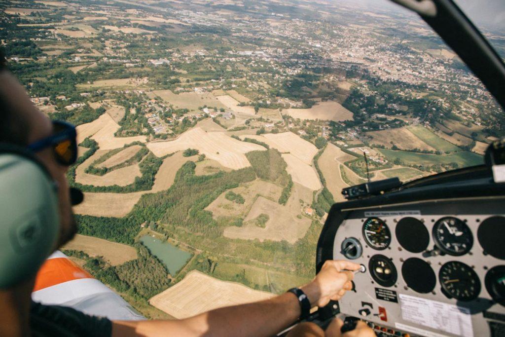 vol en planeur au dessus de Auch