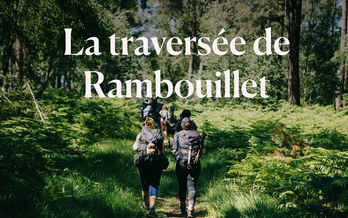la randonnée de la traversée de Rambouillet