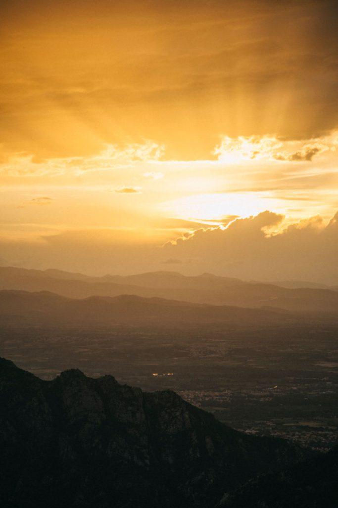 coucher de soleil sur Agrelès-sur-Mer