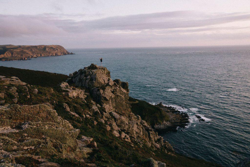 panorama sur la baie d'ecalgrain depuis le spot de bivouac