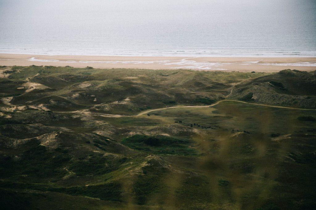 les dunes de faucille depuis le belvédère