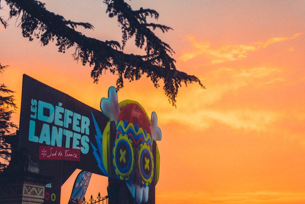 coucher de soleil sur le festival des déferlantes d'Argelès