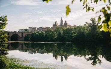 la ville de Montauban et le pont vieux