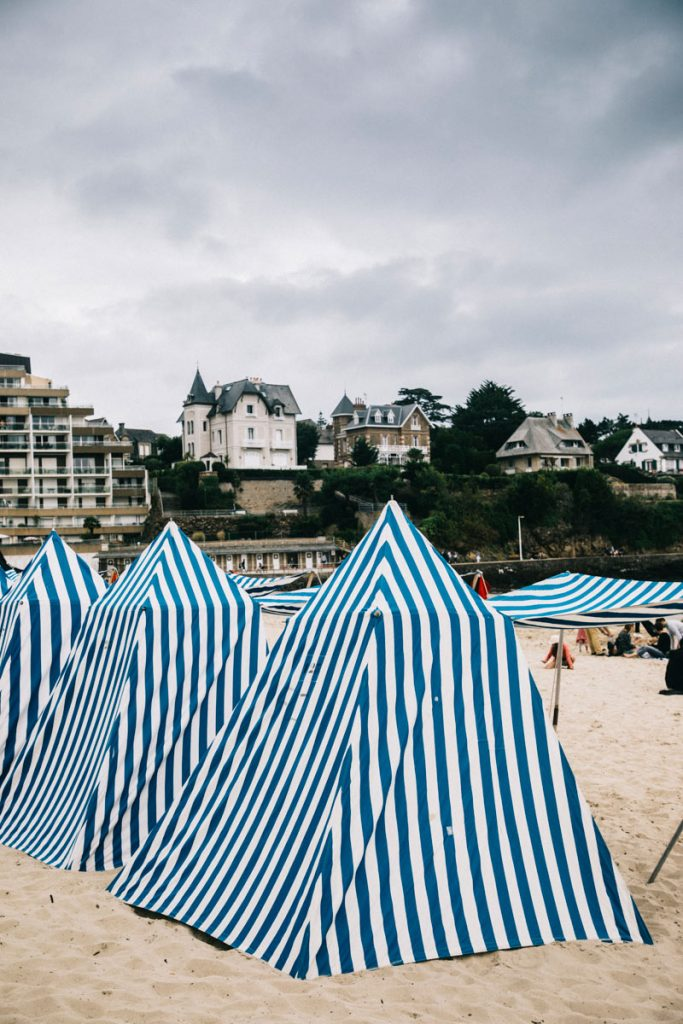 les tentes de plage de Dinard