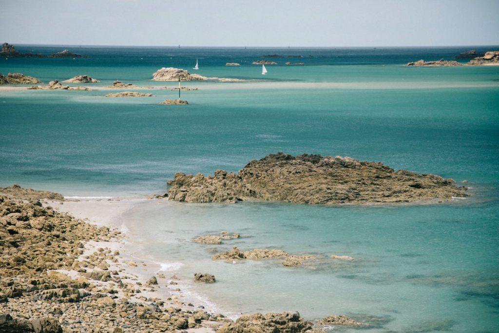 la côte d'Emeraude et les îles d'Ebihens
