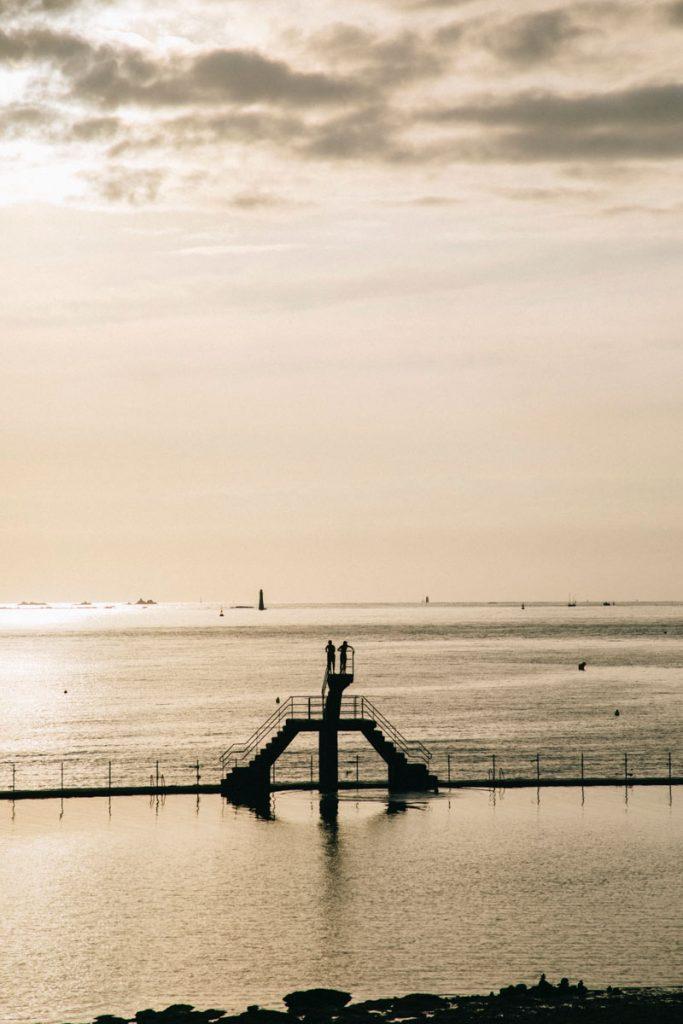 la piscine de la plage de Saint-Malo