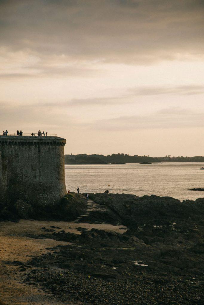 balade sur les remparts de Saint-Malo