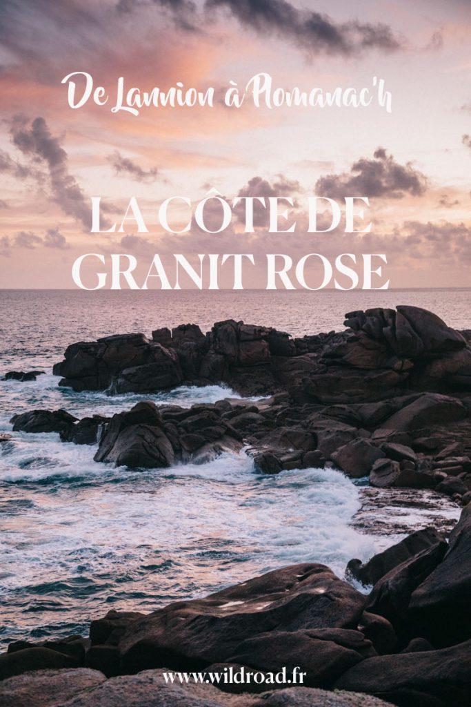 la côte de granit rose et les spots photos incontournables en Bretagne