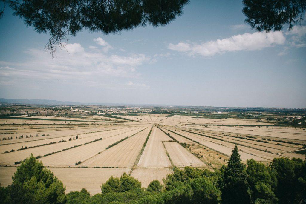 l'étang asséché de Montady vers Béziers
