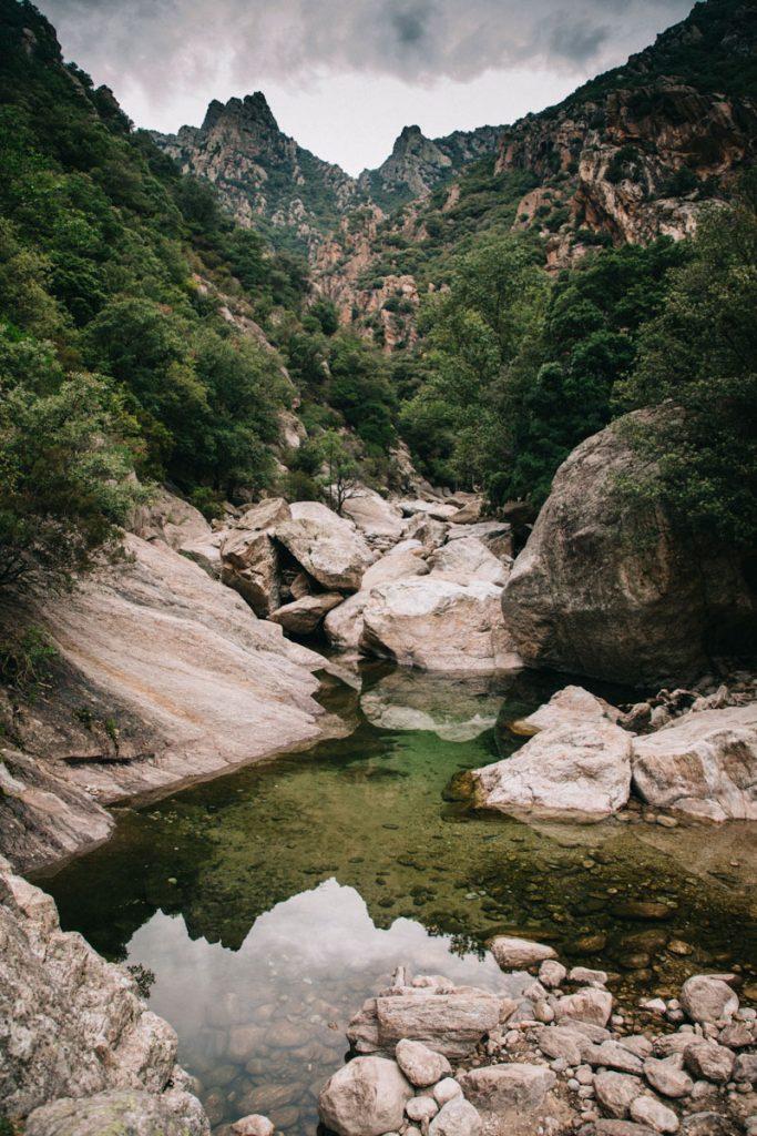 les gorges d'Héric dans le massif du Caroux