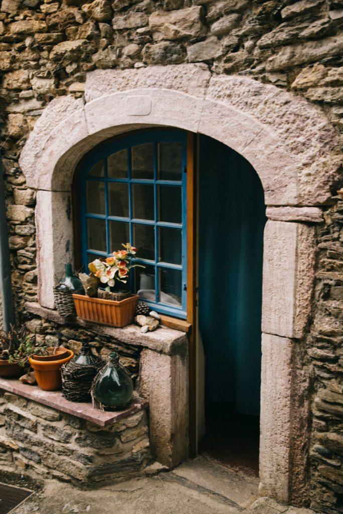 les rues du villages d'Olargues dans le Haut-Languedoc