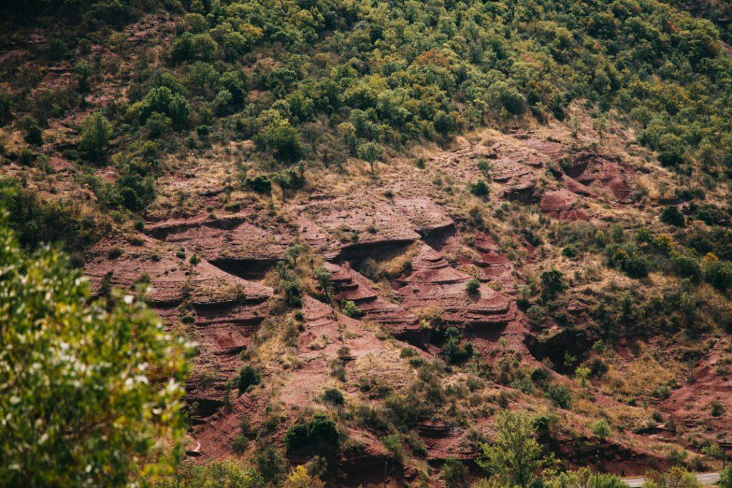 les terres rouges du Ruffe vers Béziers