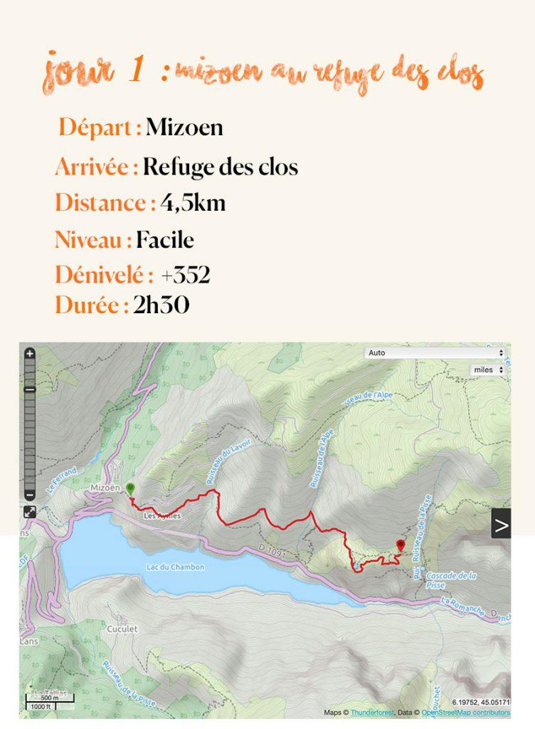 topographie jour 1 plateau d'emparis