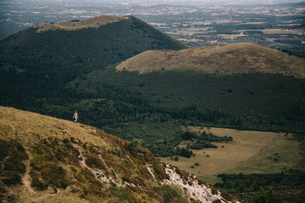 la chaîne des puy depuis de Panoramique