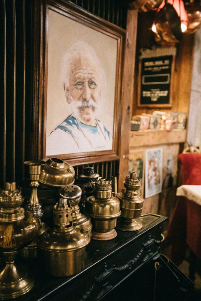 la décoration du restaurant de Chamonix