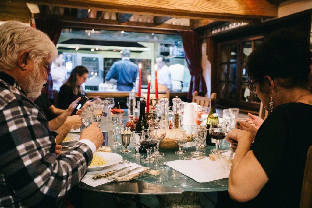 la table gastronomique des chalets de Philippe