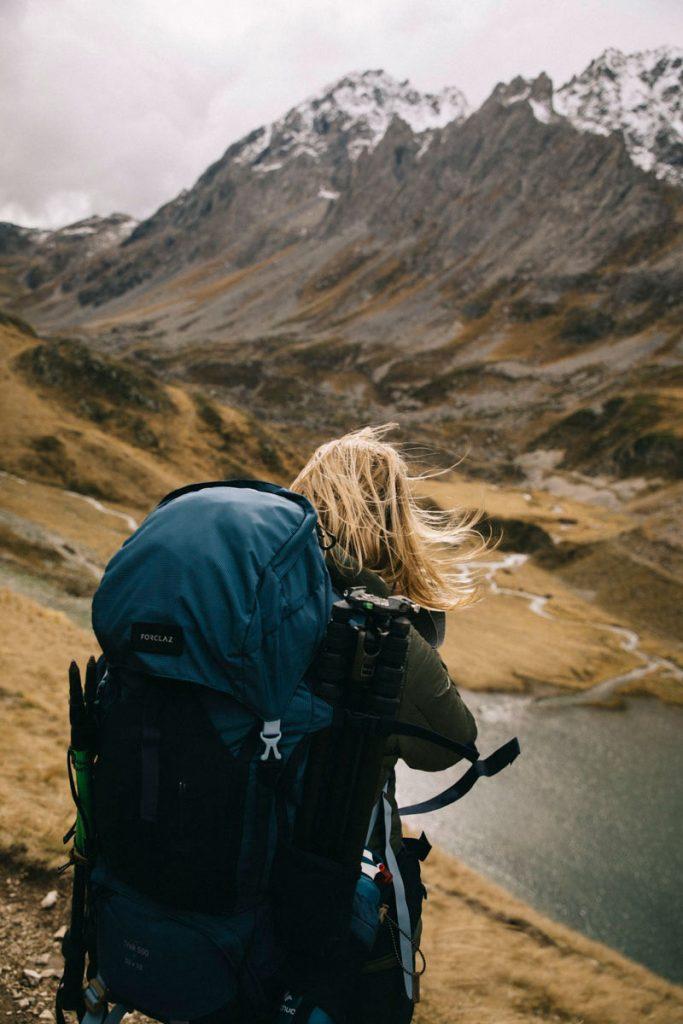 sac de trek forclaz pour la randonnée du lac des Cerces