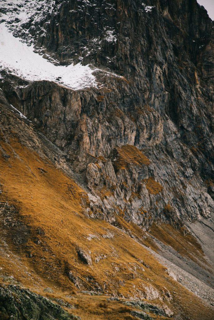 détail de la montagne du massif des Cerces