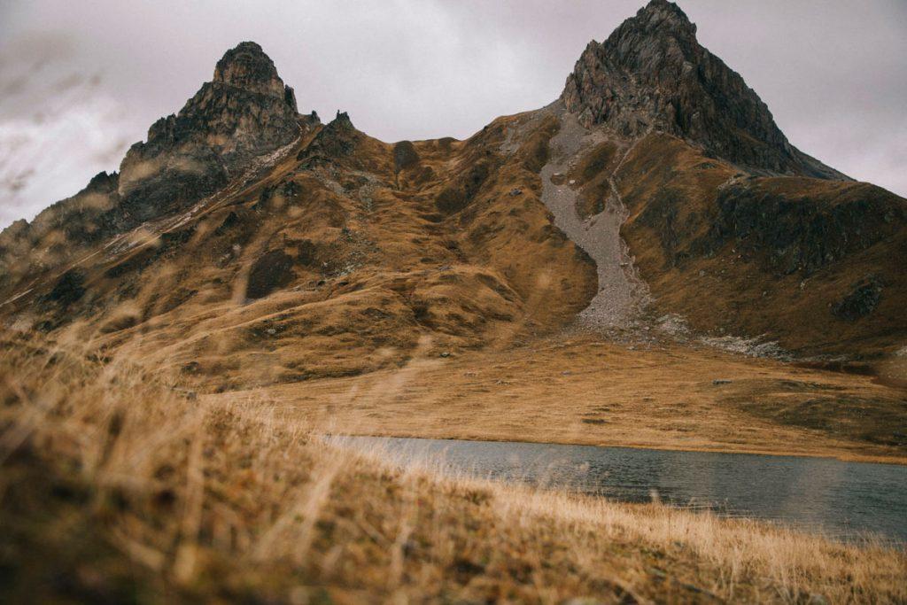 le lac des Cerces à l'automne