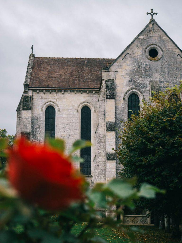 un abbaye sur le chemin de la madjacques à Vélo