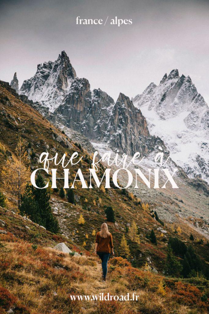 que faire à Chamonix lors d'un week-end en automne