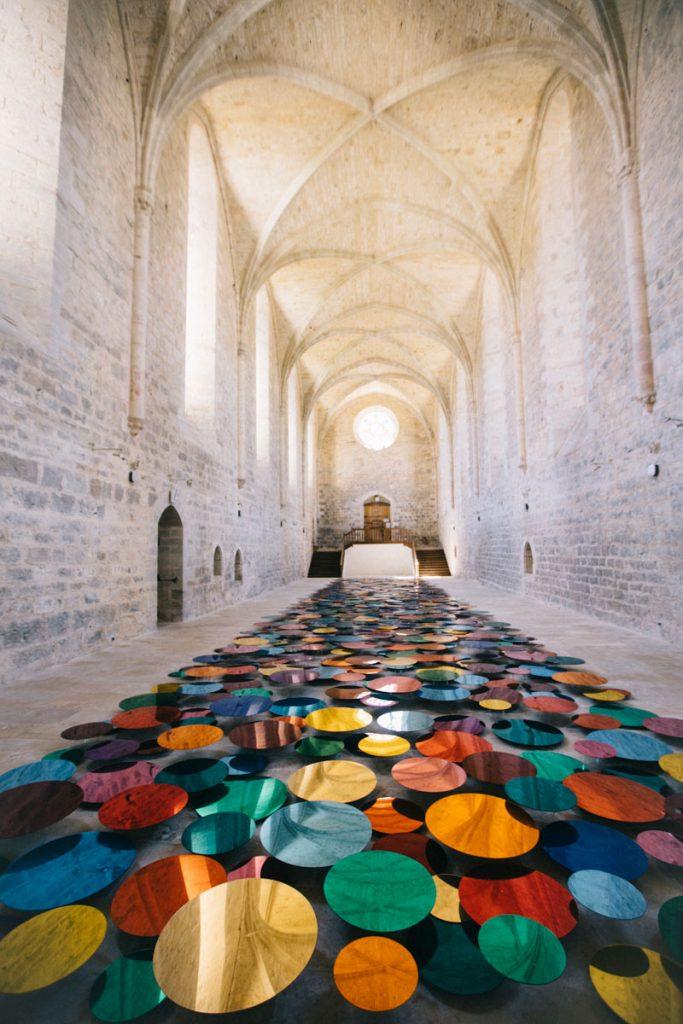 Exposition d'artiste dans l'abbaye de Beaulieu