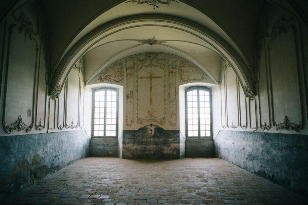 l'intérieur de l'abbaye de Belleperche