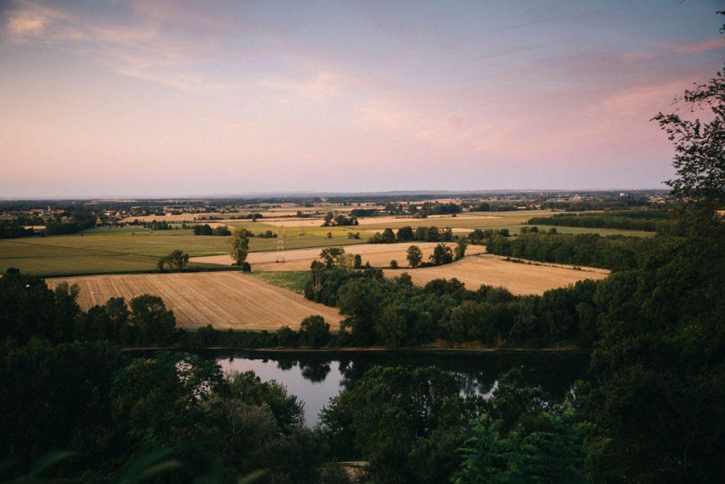 le panorama de la vallée de la Garonne