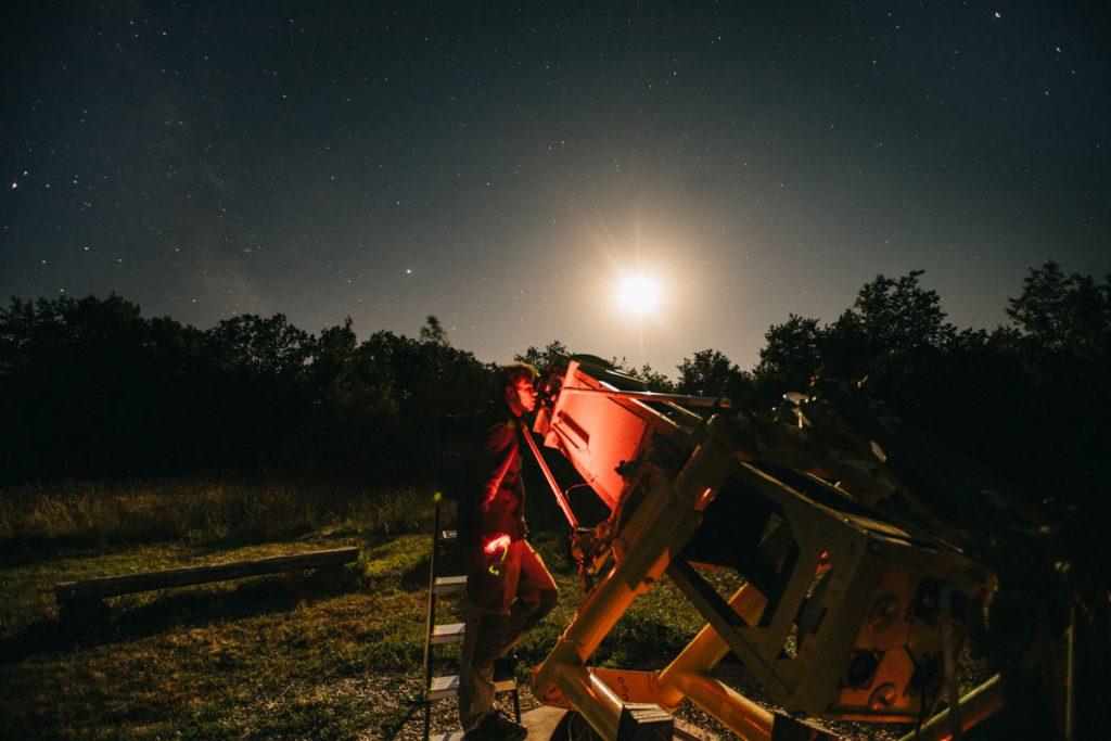 observation des étoiles au refuge aux étoiles