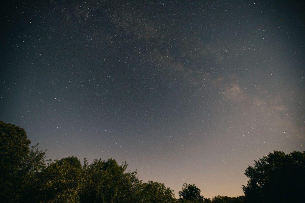 la voies lactée au refuge aux étoiles