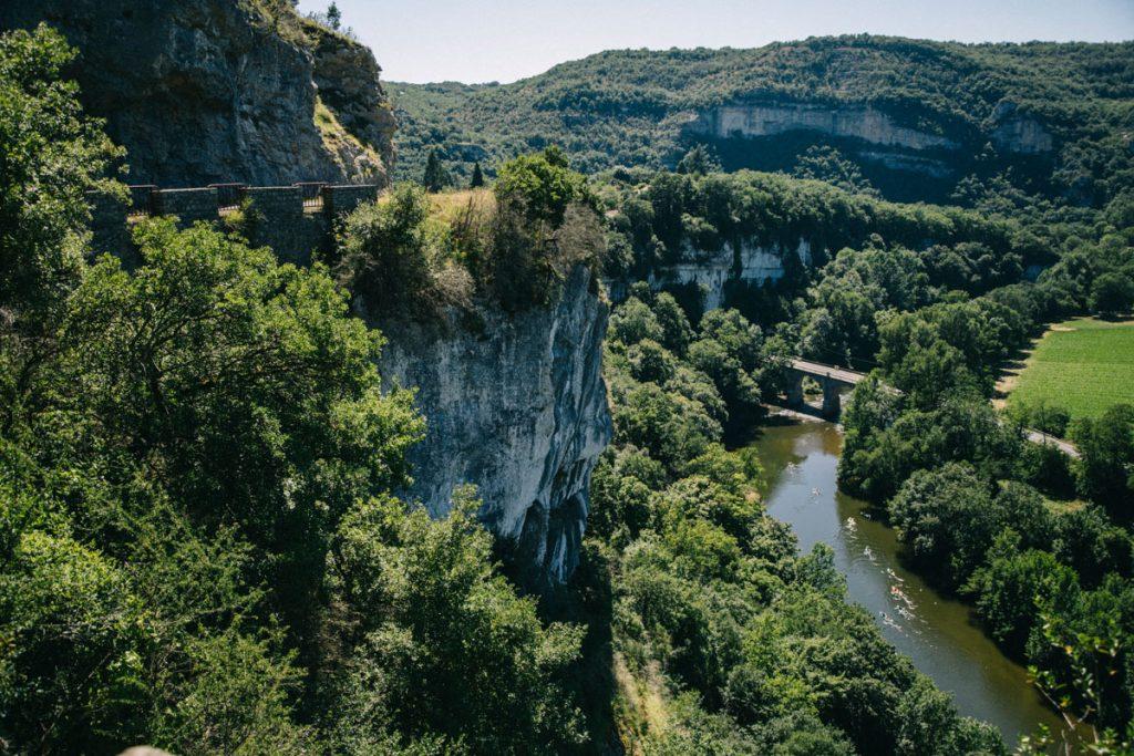 la route des crête au dessus des gorges de l'Aveyron