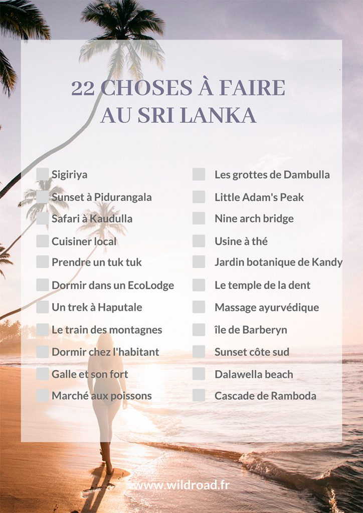 22 choses à faire au Sri Lanka