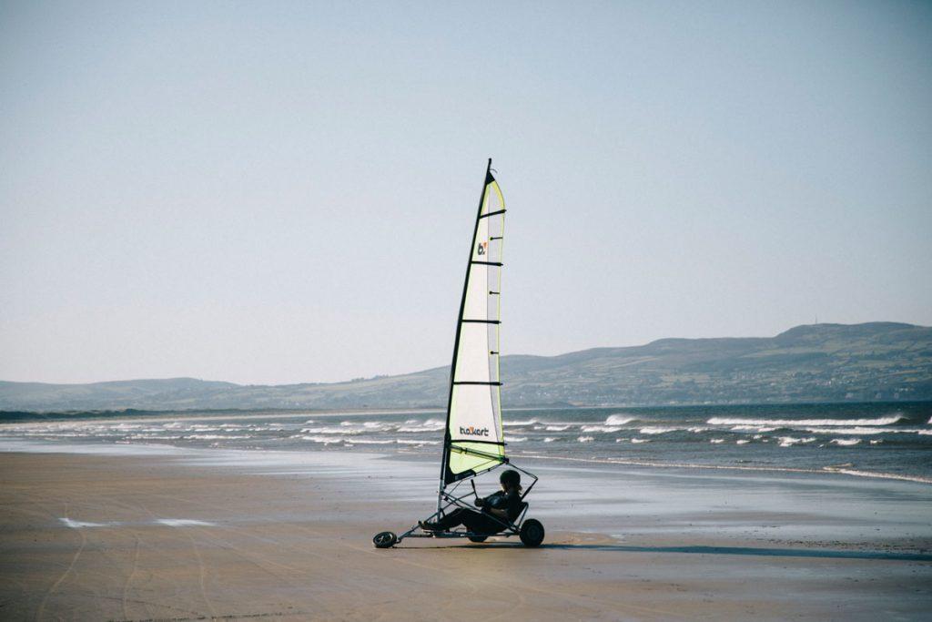 Faire du char à voile en Irlande