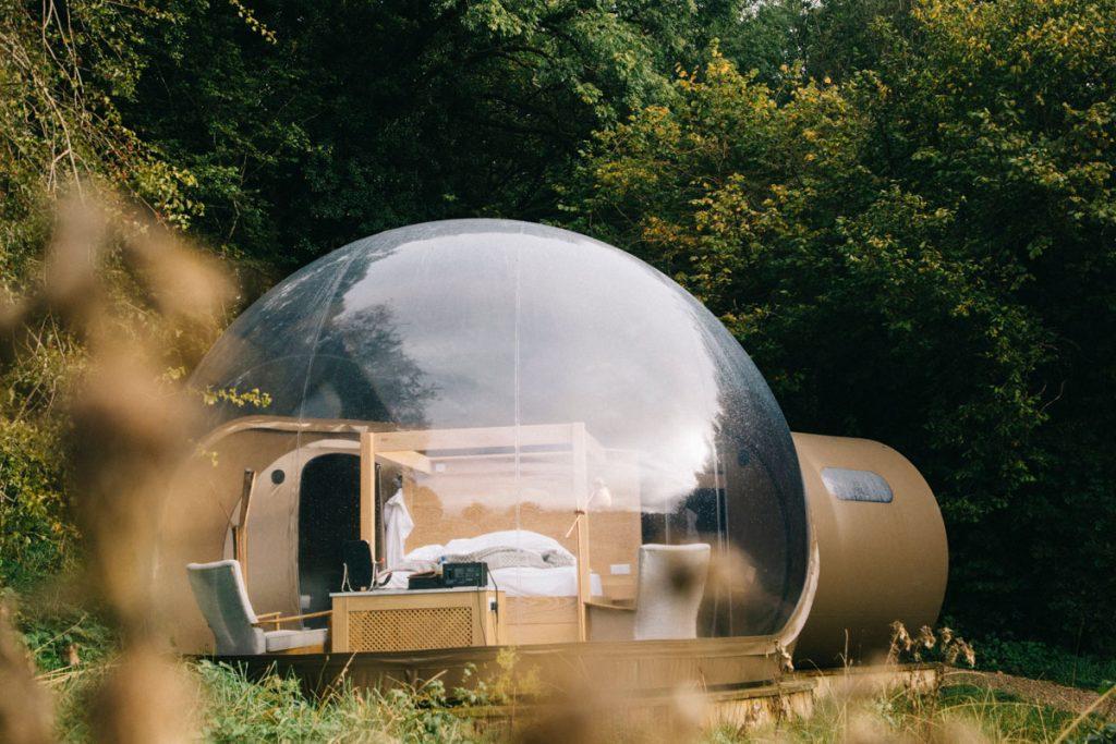 hébergement insolite en Irlande : dormir dans une bulle dans le comté de Fermanagh