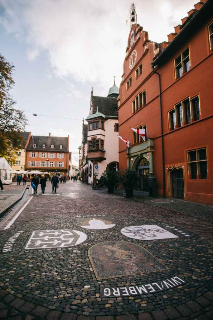 le quartier de l'hôtel de ville à Freibourg
