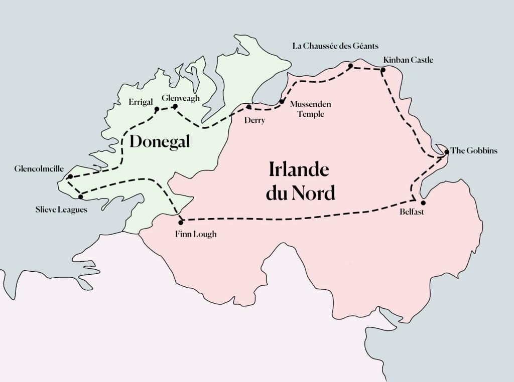 itinéraire une semaine en irlande du nord et dans le comté de Donegal
