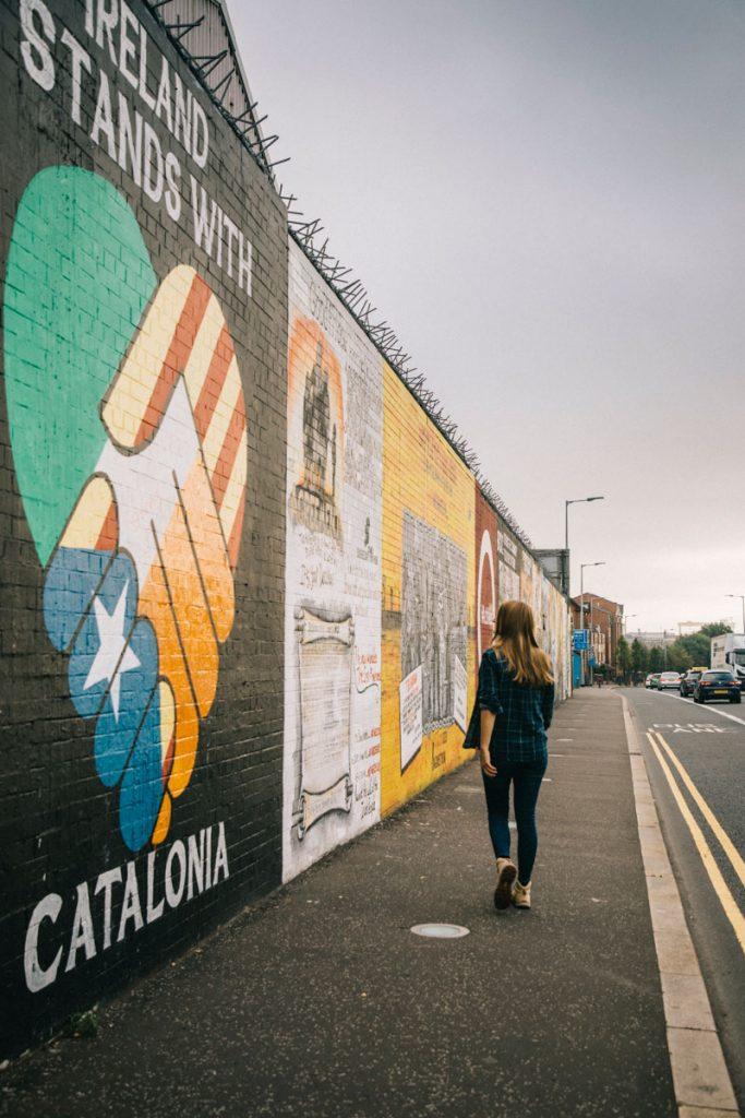 le mur pour la paix de Belfast