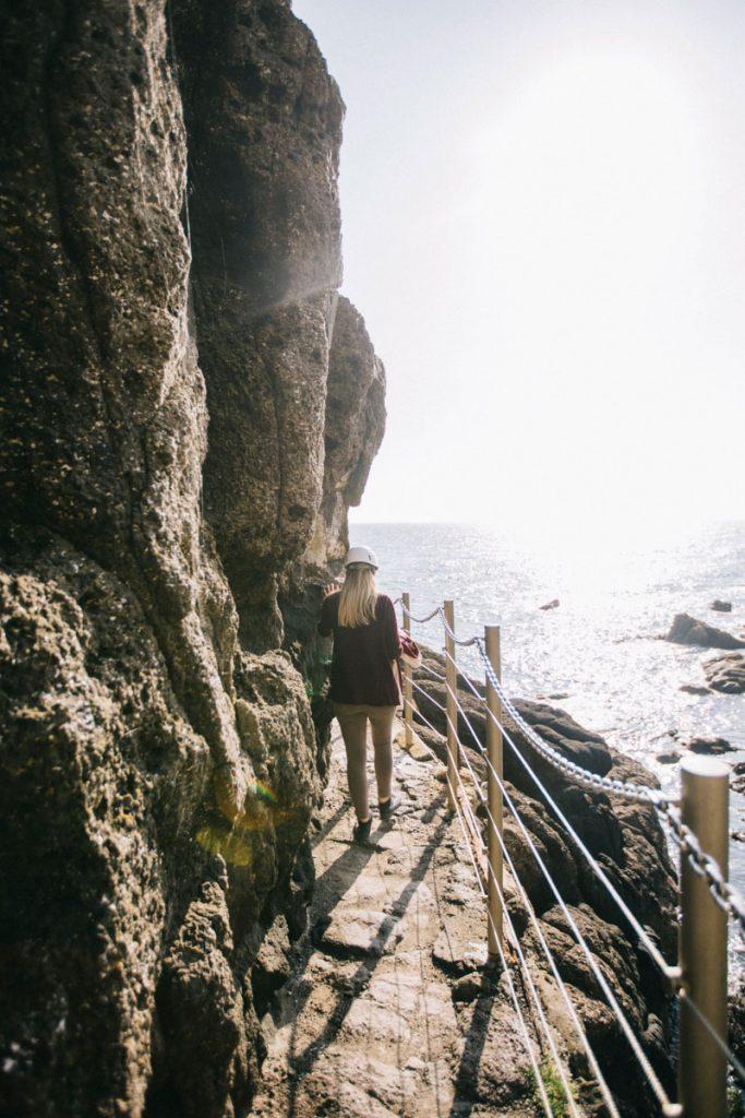 sentier de découverte le long des falaises de the gobbins